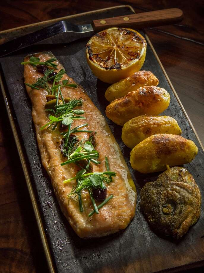 The Alder Planked Half Trout at Fog City in San Francisco, Calif., is seen on November 15th, 2013. Photo: John Storey, Special To The Chronicle
