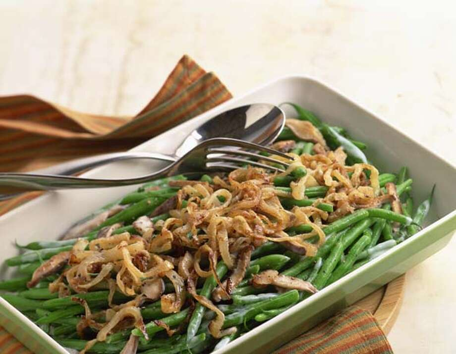 Green bean casserole is one of the good guys on the dining room table. It comes in at around 142 calories per cup. Photo: Brian Hagiwara, Getty Images / (c) Brian Hagiwara
