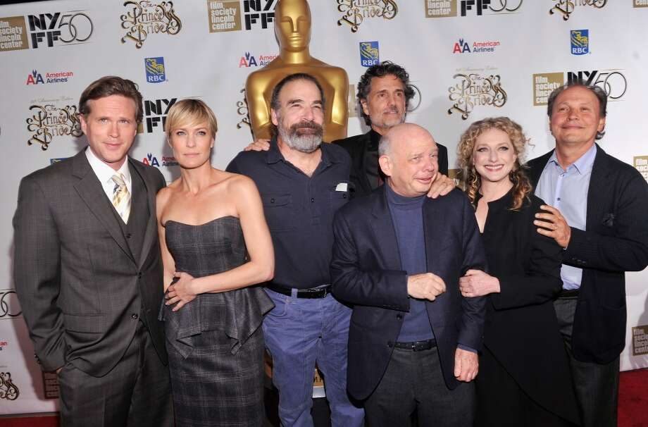 "(L-R) Cary Elwes, Robin Wright, Mandy Patinkin, Chris Sarandon, Wallace Shawn, Carol Kane and Billy Crystal attend the 25th anniversary screening & cast reunion of ""The Princess Bride."" Photo: Stephen Lovekin/Getty Images"
