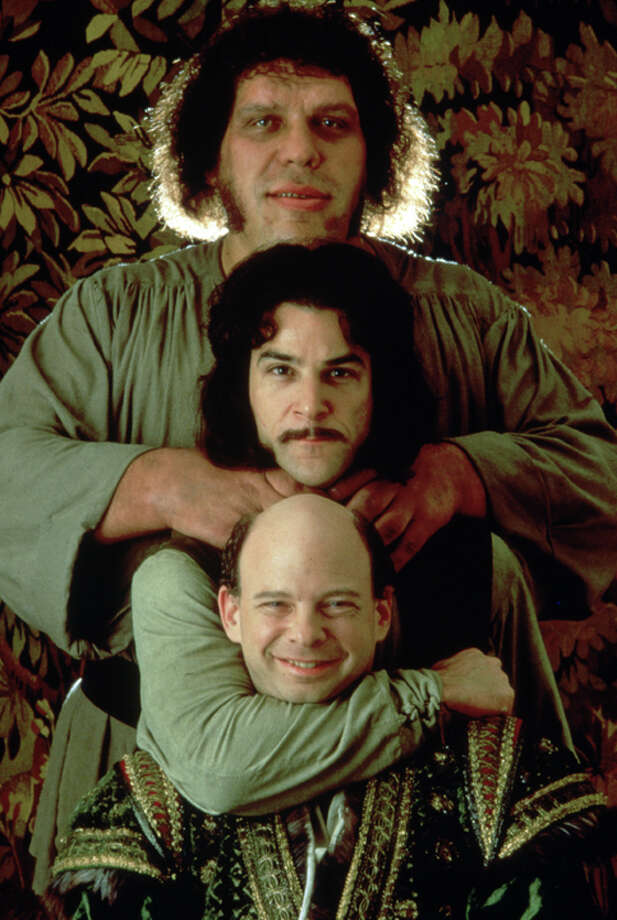 From the top, Fezzik (Andre the Giant), Inigo Montoya (Mandy Patinkin) and Vizzini (Wallace Shawn). Photo: Twentieth Century Fox Film Corporation Photography