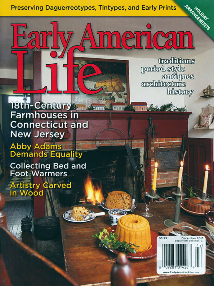 The home and work of Paula Walton of New Milford are featured on the cover and in the December edition of Early American Life magazine. Photo: Contributed Photo / The News-Times Contributed