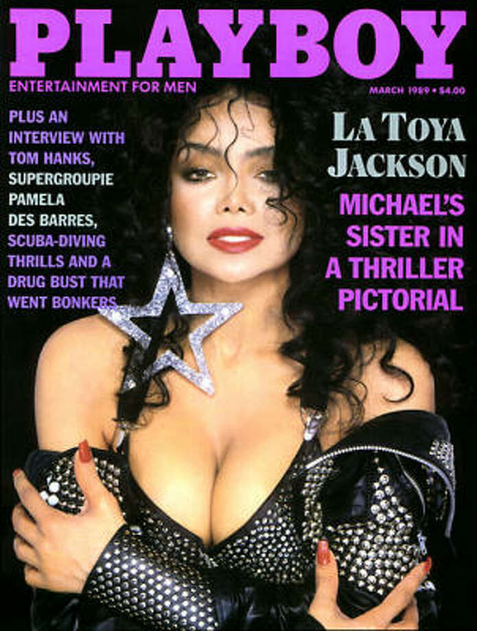 La Toya Jackson in studded leather after a falling out with her famous family. March 1989