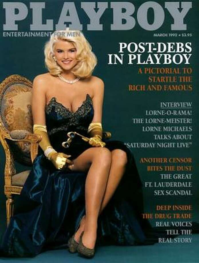 Anna Nicole Smith's first cover for Playboy. March 1992.