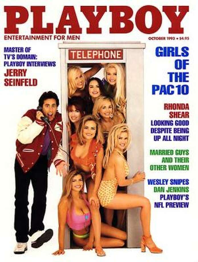 Comedian Jerry Seinfeld is one of the few men to share the cover of Playboy. October 1993.