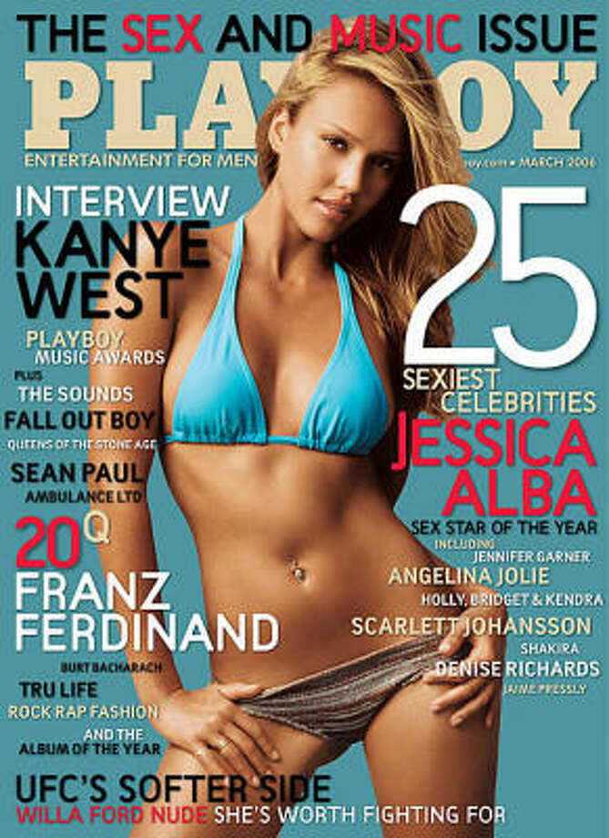 Jessica Alba on the cover of the Sex and Music issue. March 2006.