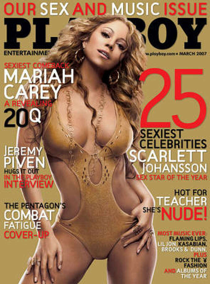 Mariah Carey on the cover of the Sex and Music issue. March 2007.