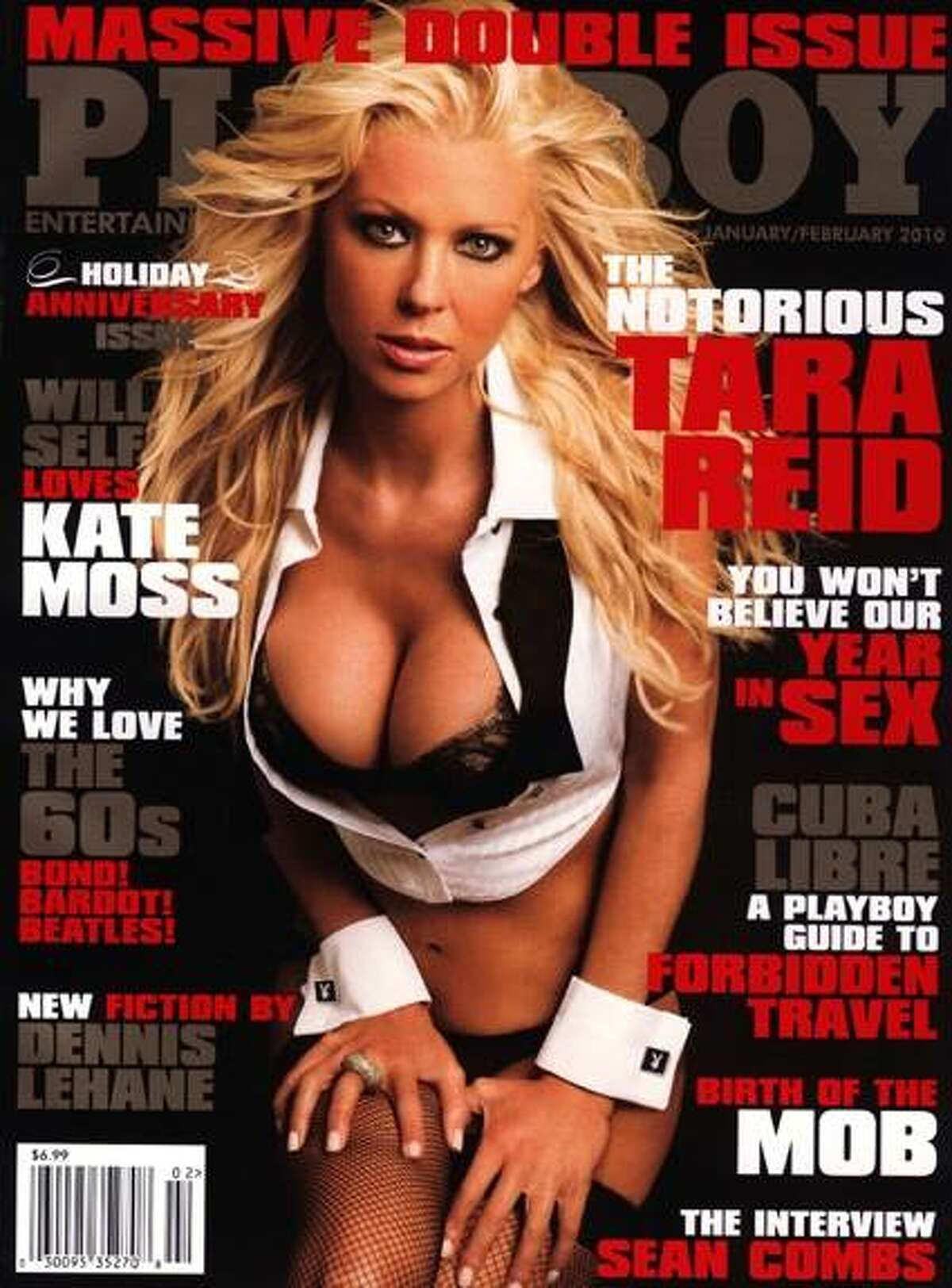 Tara Reid and her assets graced the cover of the Massive Double issue. January/February 2010