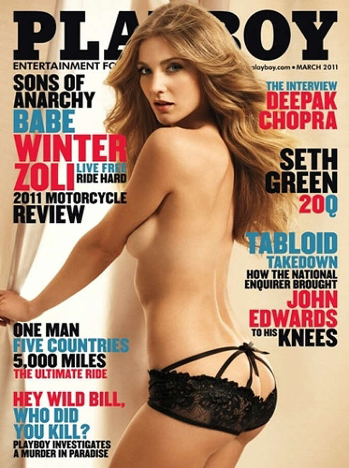 """Sons of Anarchy"" star Winter Ave Zoli graced the cover for a motorcycle themed issue. March 2011."