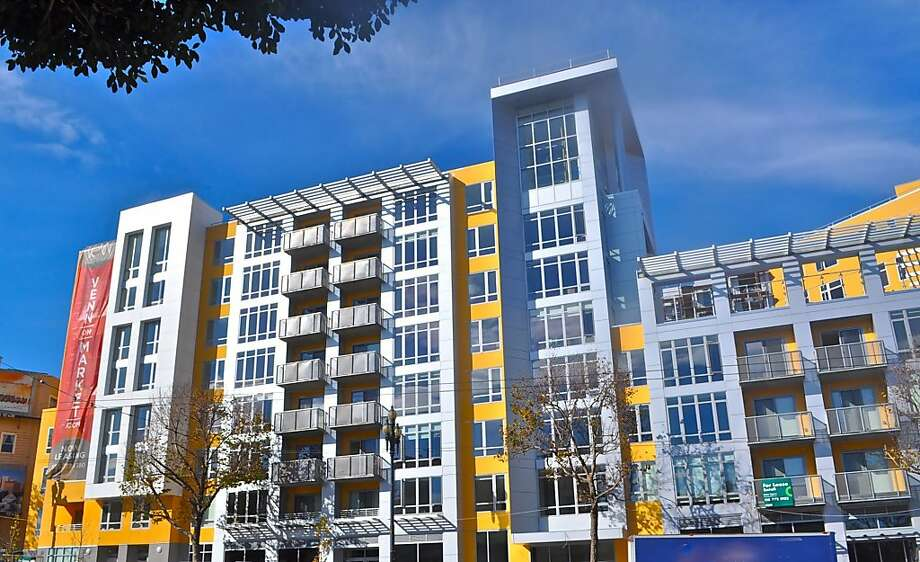 The 113-unit Venn on Market building is more than half leased, and some tenants already have moved in. Rents start at $3,075. Photo: MacFarlane Properties
