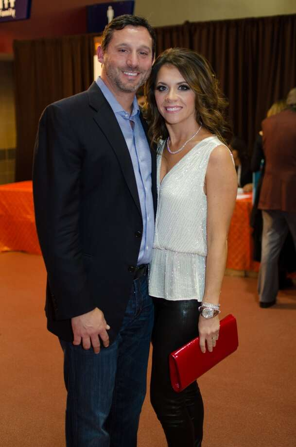 Brad and Joanna Marks during Friday Night Lights Benefiting Depelchin Children's Center on Friday, Nov. 15. Photo: Jamaal Ellis, For The Chronicle