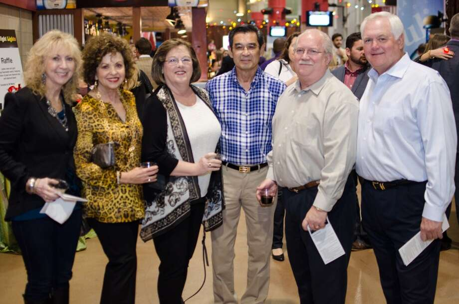 Nancy Agawa, Laurie Phillips, Trish Hagner, Malcolm Agawa, Buddy Hagner, and Wade Phillips at Friday Night Lights Benefiting Depelchin Children's Center on Friday, Nov. 15. Photo: Jamaal Ellis, For The Chronicle