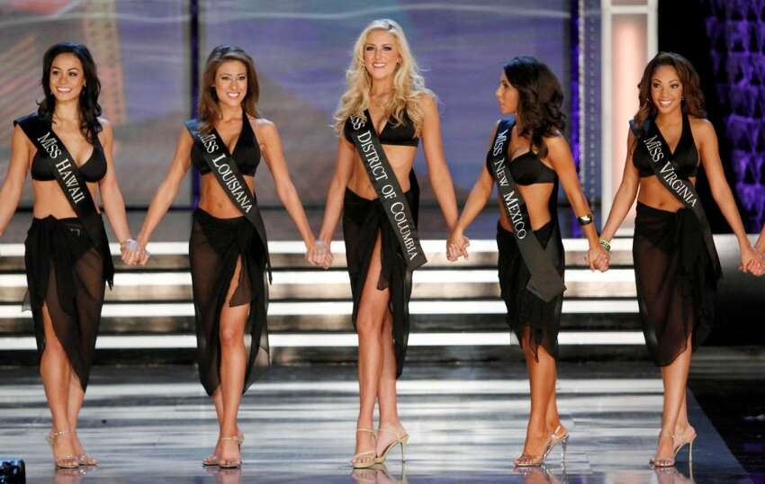 Contestants in the 2010 Miss America Pageant compete, Saturday Jan. 30, 2010 in Las Vegas. (AP Photo/Eric Jamison)