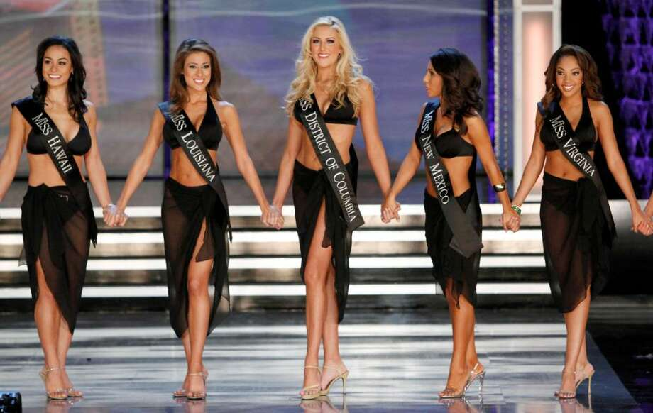 Contestants in the 2010 Miss America Pageant compete, Saturday Jan. 30, 2010 in Las Vegas. (AP Photo/Eric Jamison) Photo: Eric Jamison, ASSOCIATED PRESS / AP2010