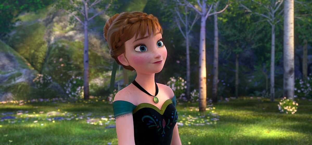 """This image released by Disney shows Anna, voiced by Kristen Bell, in a scene from the animated feature """"Frozen."""" (AP Photo/Disney)"""