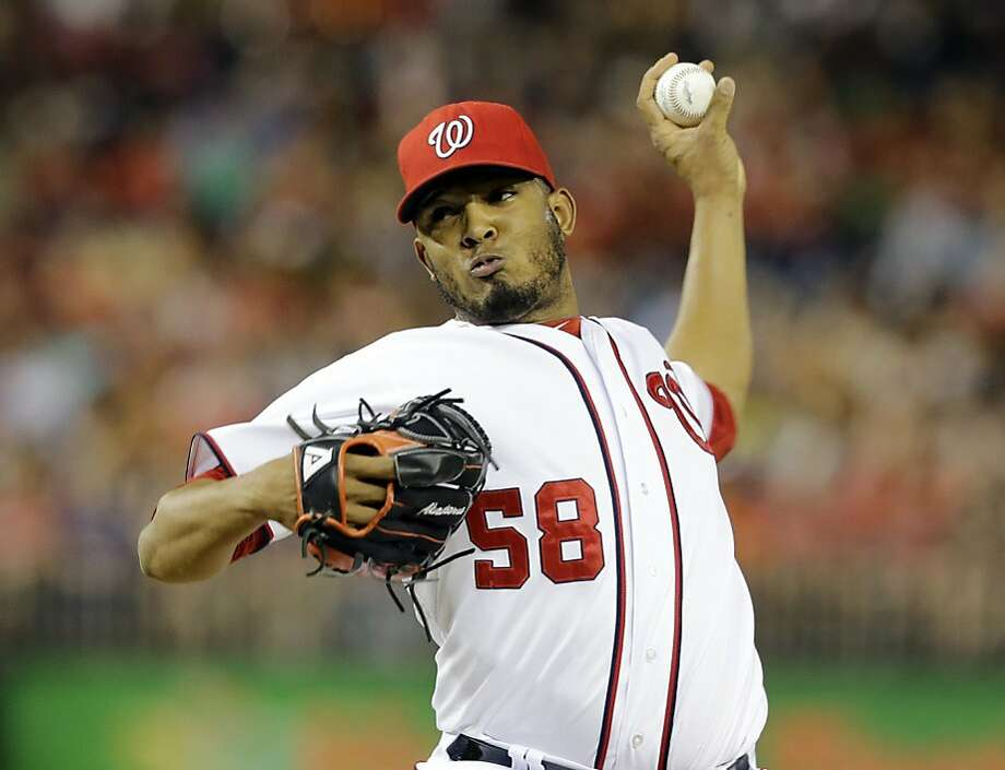 Reliever Fernando Abad had a 3.35 ERA in 39 games for the Nationals last season, his fourth in the major leagues. Photo: Alex Brandon, Associated Press
