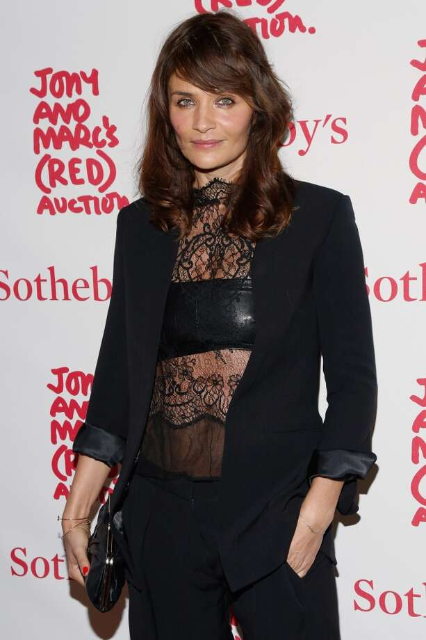 Model Helena Christensen attends Jony And Marc's (RED) Auction at Sotheby's on November 23, 2013 in New York City.  (Photo by Cindy Ord/Getty Images for (RED)) Photo: Cindy Ord