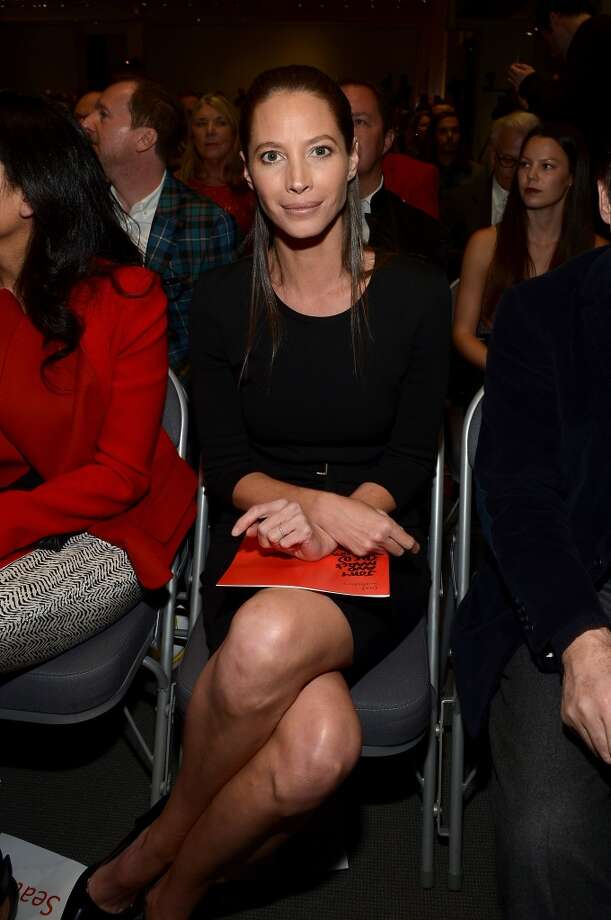 Christy Turlington attends Jony And Marc's (RED) Auction at Sotheby's on November 23, 2013 in New York City.  (Photo by Mike Coppola/Getty Images for (RED)) Photo: Mike Coppola