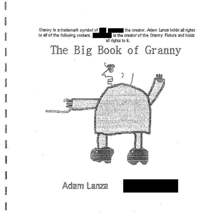 "Adam Lanza wrote and illustrated ""The Big Book of Granny"" when he was in fifth grade. The story features a grandmother who shoots people with her cane and an accomplice called ""GrannyâÄôs Son,"" who kills Granny by shooting her in the head. Another character says: ""I like hurting people ... Especially children."" Photo: Contributed Photo / Connecticut Post Contributed"