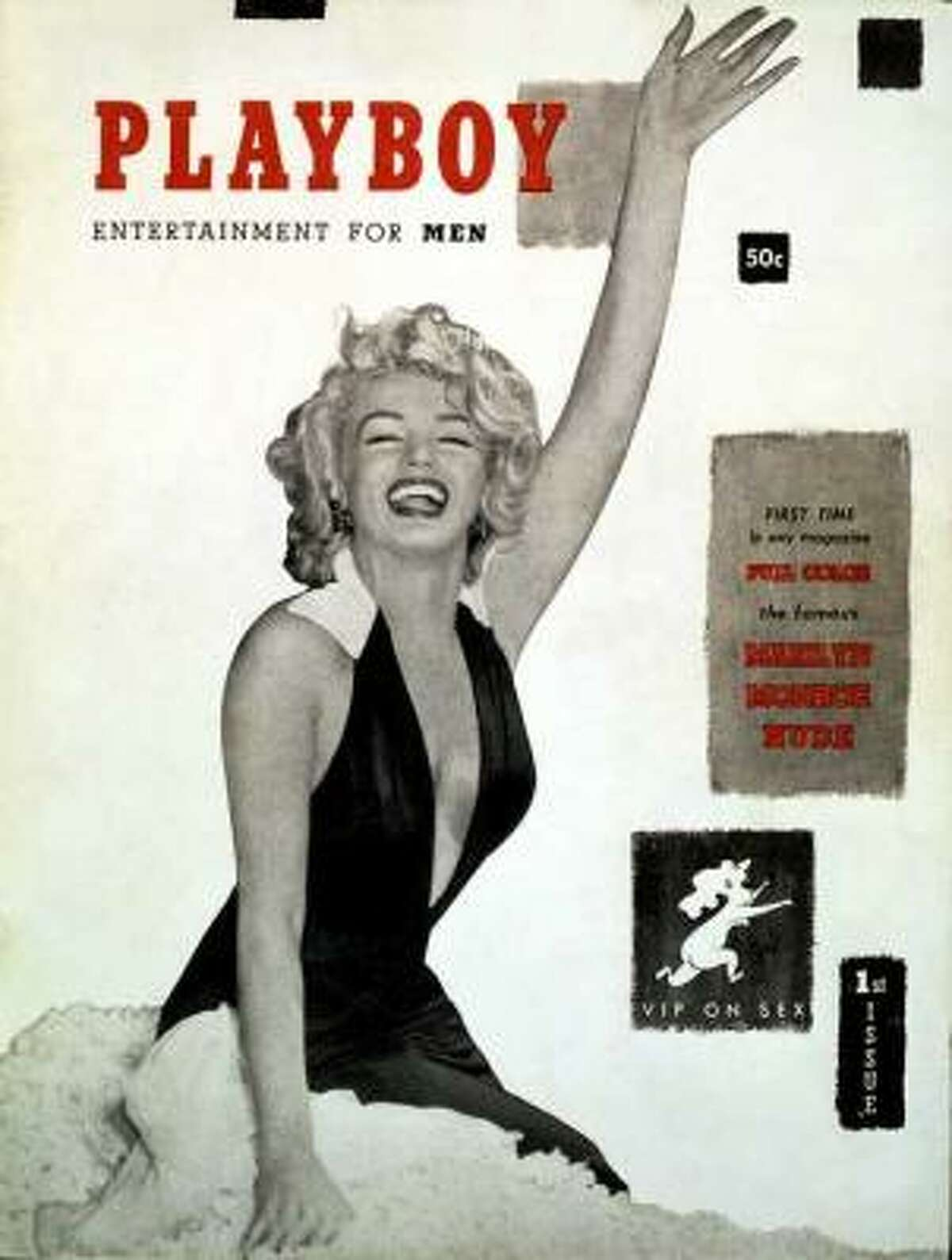 The first cover of Playboy featured Marilyn Monroe, though the shots were from a calendar shoot and she never actually posed for Playboy. It was undated as Hugh Hefner was unsure if there would be a second. December 1953.