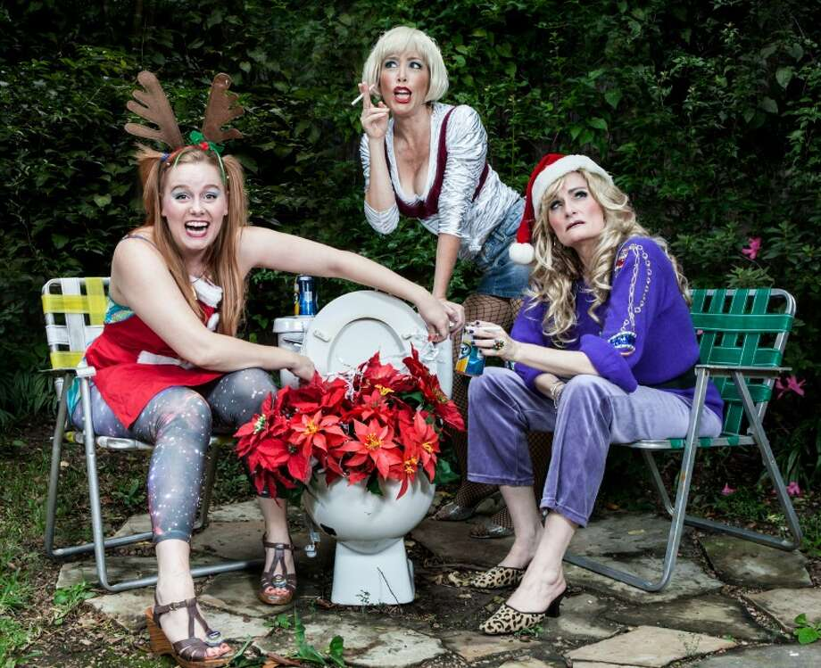 "Ivy Castle appears as Pickles, Carolyn Johnson as Lin and Susan Koozin as Betty in ""The Great American Trailer Park Christmas Musical."" Photo: Courtesy Of Amitava Sarkar / Amitava Sarkar"