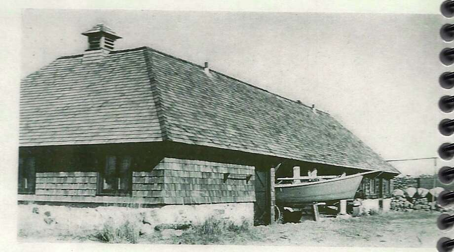 The Greenwich Point Conservancy won permission from the town's Zoning Board of Appeals to keep the historic Old Barn at Greenwich Point where it is, despite its flood-prone historical location. Photo: Greenwich Historical Society/ Co, Contributed Photo / Greenwich Citizen
