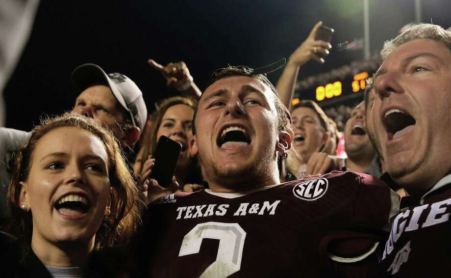 Jan. 8, 2014 -- Manziel, a red-shirt sophomore, forgoes his final two years of eligibility at A&M as he enters the NFL draft. Photo: Scott Halleran, Staff / 2013 Getty Images