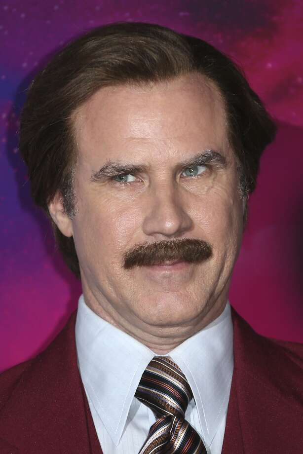 """FILE - In this Nov. 10, 2013 file photo, actor Will Ferrell, dressed as the character Ron Burgundy, poses for photographers upon arrival at the 2013 MTV Europe Music Awards, in Amsterdam, Netherlands. Ferrell's fictitious """"Anchorman"""" character, will help cover Canada's Olympic curling trials for broadcaster TSN. (Photo by Joel Ryan/Invision/AP) Photo: Joel Ryan, Associated Press"""