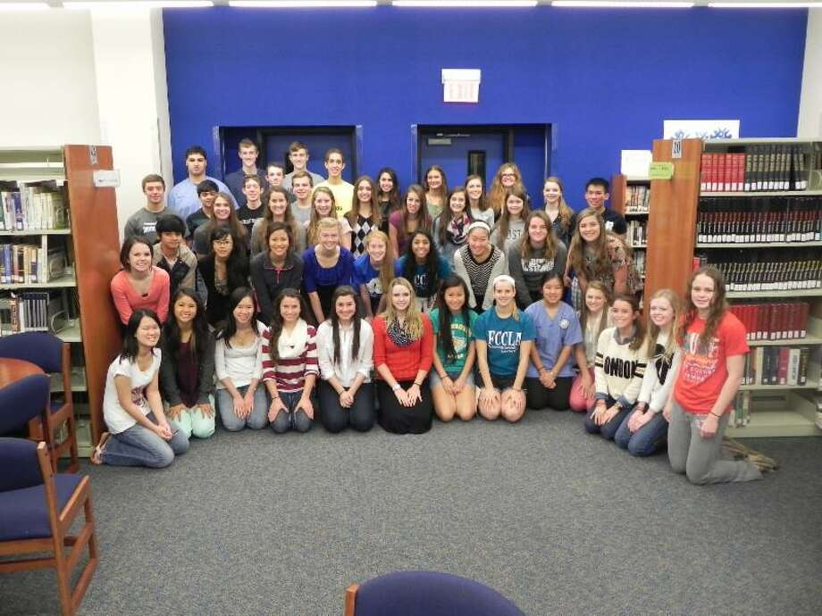 Friendswood Independent School District scholars join the National English Honor Society. Photo: Provided By Friendswood Independent School District