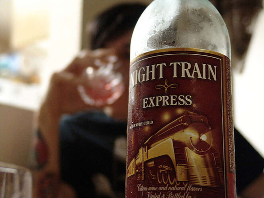 "Night Train Express  All aboard! Says BumWine.com: ""The night train runs only one route: sober to stupid with no roundtrip tickets available, and a strong liklihood of a train wreck along the way."" Photo: Angelfire.com/mi2/sfroad/page1104.html"