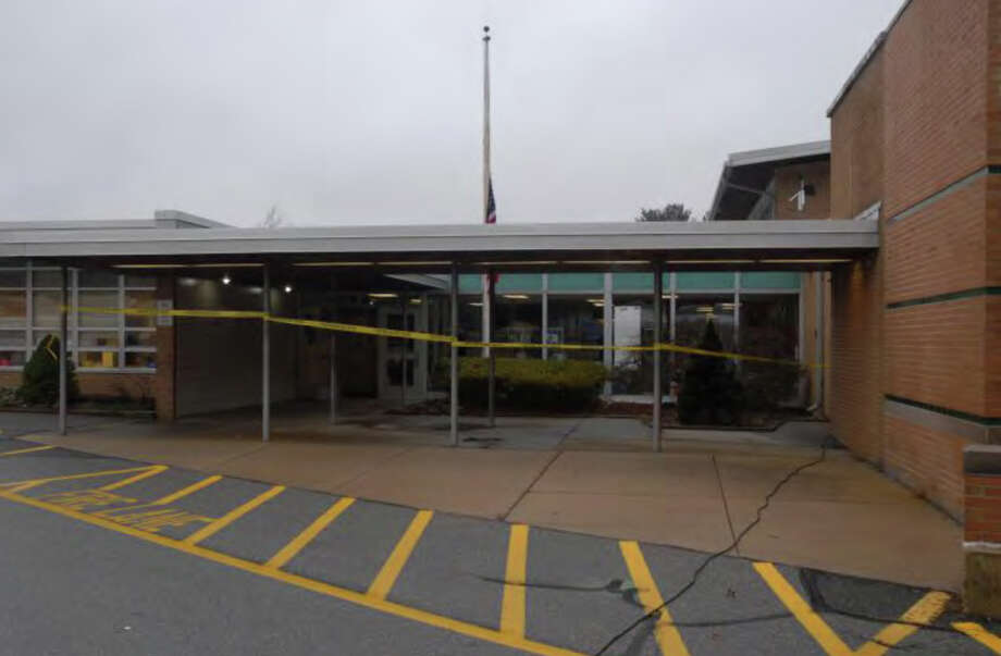 086- Front of SHES  Photos from the Report of the State's Attorney for the Judicial District of Danbury on the Shootings at Sandy Hook Elementary School and 36 Yoganda Street, Newtown Connecticut. Photo: Office Of The State's Attorney J / Connecticut Post contributed