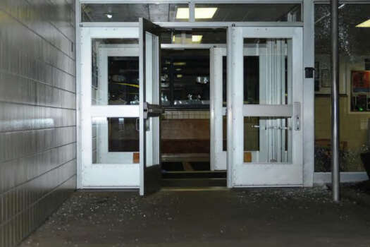 0006- Front entrance of SHES  Photos from the Report of the State's Attorney for the Judicial District of Danbury on the Shootings at Sandy Hook Elementary School and 36 Yoganda Street, Newtown Connecticut. Photo: Office Of The State's Attorney J / Connecticut Post contributed