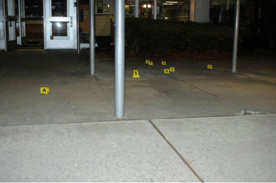 0103- Front entrance of SHES  Photos from the Report of the State's Attorney for the Judicial District of Danbury on the Shootings at Sandy Hook Elementary School and 36 Yoganda Street, Newtown Connecticut. Photo: Office Of The State's Attorney J / Connecticut Post contributed