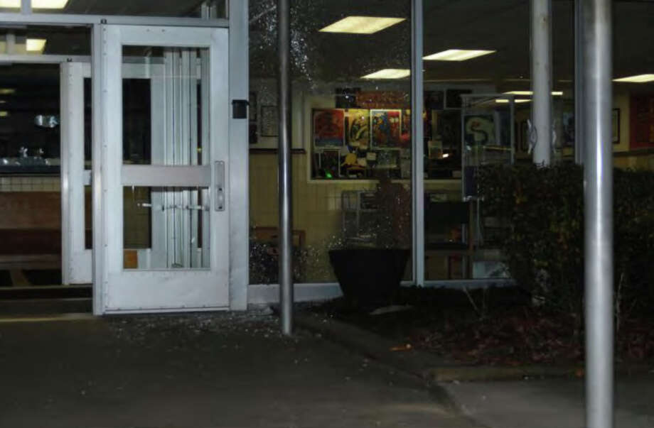 007- Front entrance of SHES  Photos from the Report of the State's Attorney for the Judicial District of Danbury on the Shootings at Sandy Hook Elementary School and 36 Yoganda Street, Newtown Connecticut. Photo: Office Of The State's Attorney J / Connecticut Post contributed