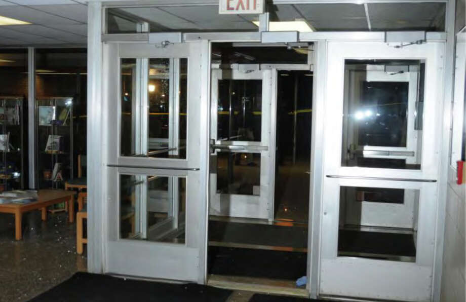 025- Front entrance of SHES  Photos from the Report of the State's Attorney for the Judicial District of Danbury on the Shootings at Sandy Hook Elementary School and 36 Yoganda Street, Newtown Connecticut. Photo: Office Of The State's Attorney J / Connecticut Post contributed