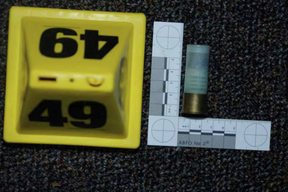 0504- Misc. shotgun shell (Federal Tactical 12 ga.) from floor north of door to Rm #6 (#49)  Photos from the Report of the State's Attorney for the Judicial District of Danbury on the Shootings at Sandy Hook Elementary School and 36 Yoganda Street, Newtown Connecticut. Photo: Office Of The State's Attorney J / Connecticut Post contributed