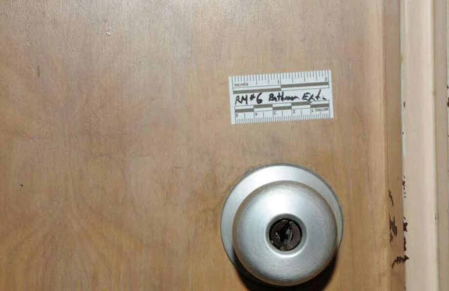 132- Example classroom restroom door lock - exterior  Photos from the Report of the State's Attorney for the Judicial District of Danbury on the Shootings at Sandy Hook Elementary School and 36 Yoganda Street, Newtown Connecticut. Photo: Office Of The State's Attorney J / Connecticut Post contributed