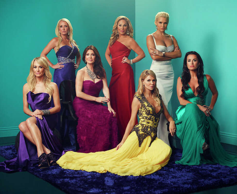 THE REAL HOUSEWIVES OF BEVERLY HILLS -- Season:3 -- Pictured: (L-R) Taylor Armstrong, Kim Richards, Lisa Vanderpump, Adrienne Maloof, Brandi Glanville, Yolanda Hadid, Kyle Richards -- (Photo by: Joe Pugliese/Bravo) Photo: Bravo, Joe Pugliese/Bravo / 2012 Bravo Media, LLC