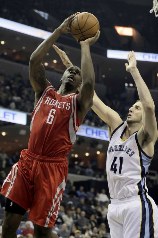 Nov. 25: Rockets 93, Grizzlies 86Rockets forward Terrence Jones attempts a shot against the Grizzlies. Photo: Danny Johnston, Associated Press