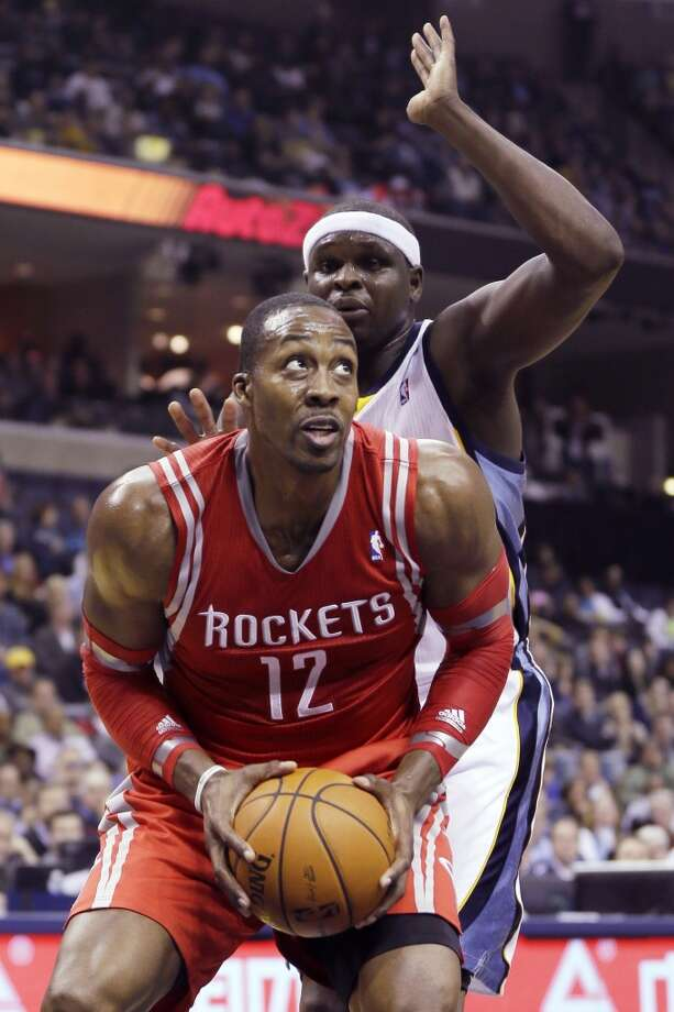 Rockets center Dwight Howard makes a move against the Grizzlies. Photo: Danny Johnston, Associated Press