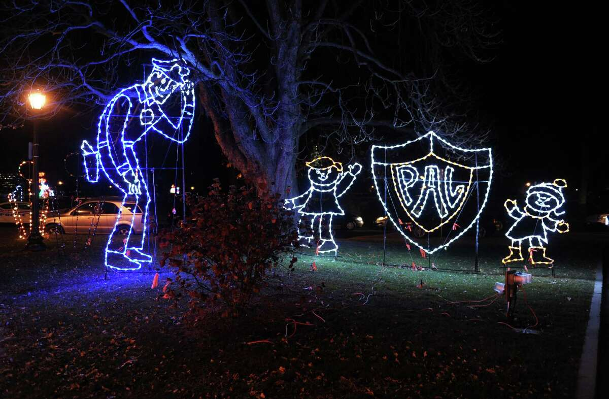 The PAL light display at the lighting ceremony for the annual Price Chopper Holiday Lights in the Park at Washington Park on Monday, Nov. 25, 2013 in Albany, N.Y. Proceeds of this event benefit the Police Athletic League. (Lori Van Buren / Times Union)