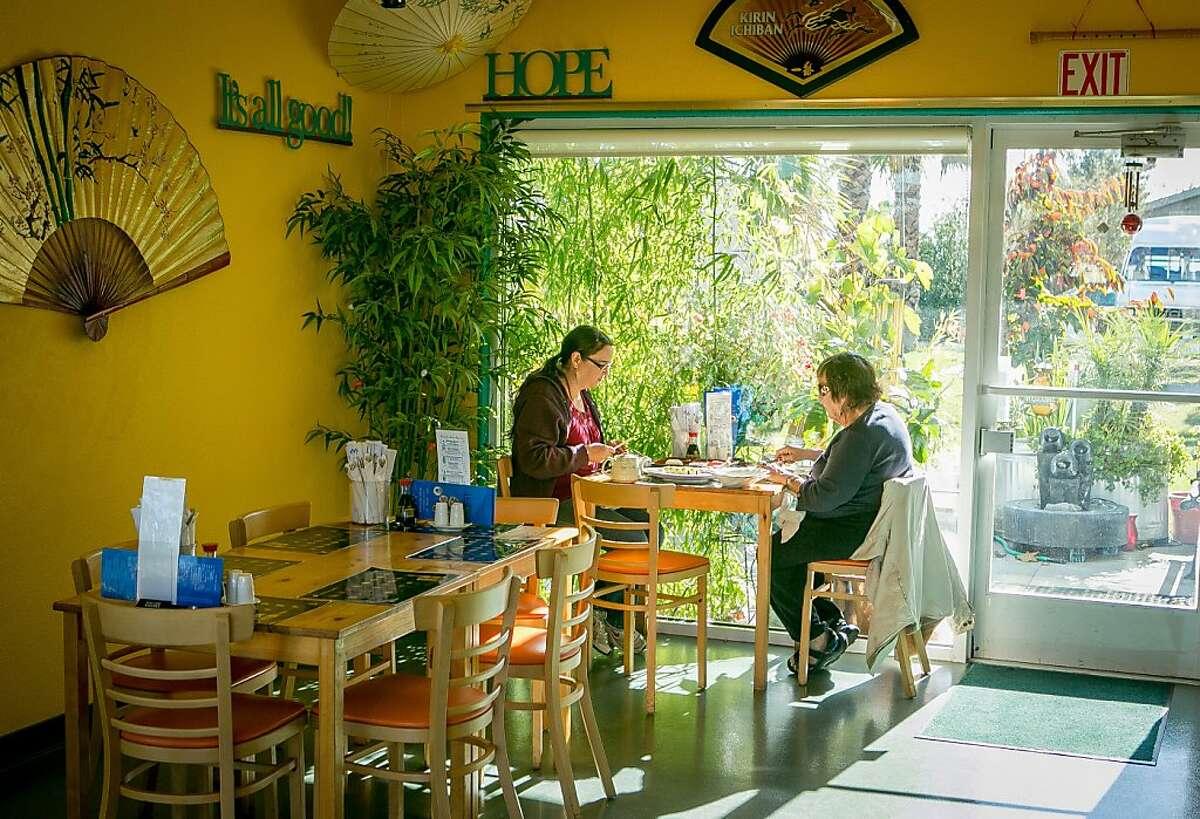 Diners enjoy lunch at Sunnyside Tokyo in Santa Rosa, Calif., on November 20th, 2013.