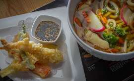 Shrimp Tempura with Udon Noodles at Sunnyside Tokyo in Santa Rosa, Calif., is seen on November 20th, 2013.