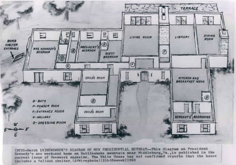 Original plans for Wexford, designed by John F. and Jackie Kennedy in 1963. Photos via Yahoo Homes. Photo: Http://homes.yahoo.com/photos/photos-the-only-home-that-jfk-and-jackie-ever-built-1385419972-slideshow/