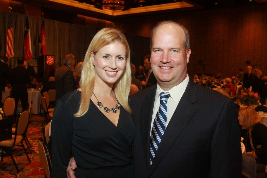 Sara Campbell and Ken Wise at the Salvation Army luncheon. Photo: Gary Fountain, For The Chronicle