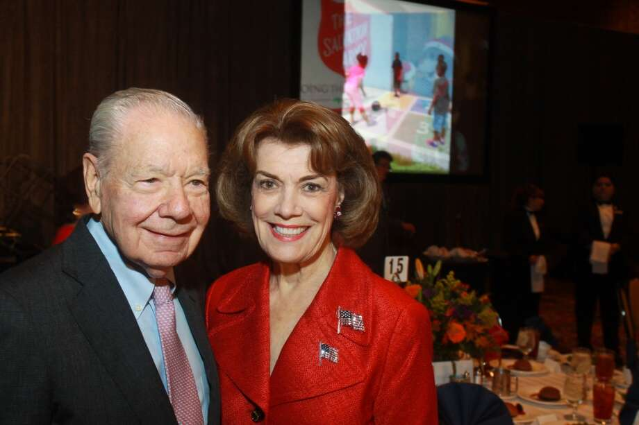 Wallace Wilson and Jeanie Kilroy Wilson at the Salvation Army luncheon. Photo: Gary Fountain, For The Chronicle