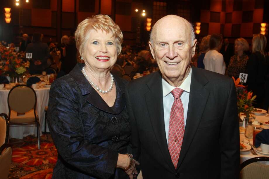 Honorees Ginger and Jack Blanton at the Salvation Army luncheon. Photo: Gary Fountain, For The Chronicle