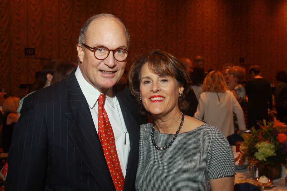 Honorees Peter and Elizabeth Wareing at the Salvation Army luncheon. Photo: Gary Fountain, For The Chronicle
