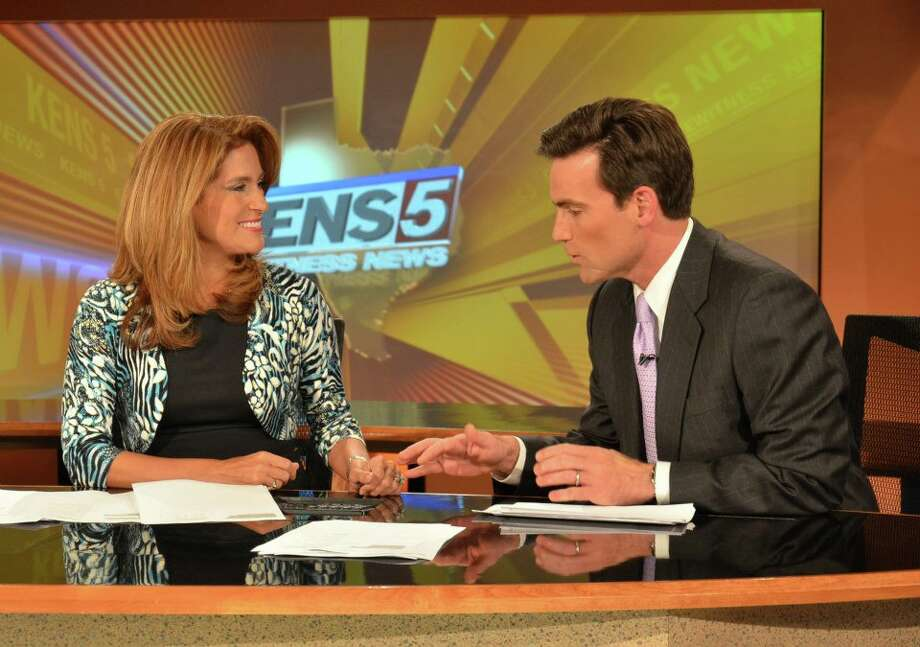 Jeff Goldblatt will welcome his lovely co-anchor back after a lengthy maternity leave. Photo: KENS
