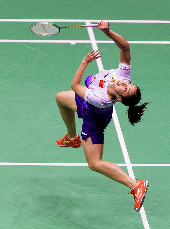 BadmintonWang Shixian of China in action against Wang Yihan of China during their women single final match during the Yonex-Sunrise Hong Kong Open Badminton Championship 2013 on November 24, 2013 in Hong Kong, Hong Kong. Photo: Victor Fraile, Getty Images / 2013 Getty Images