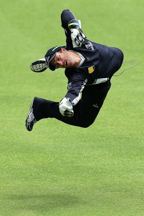 CricketMatthew Wade of the Bushrangers practices his keeping after play on day four of the Sheffield Shield match between the Western Australia Warriors and the Victoria Bushrangers at the WACA on November 25, 2013 in Perth, Australia. Photo: Paul Kane, Getty Images / 2013 Getty Images